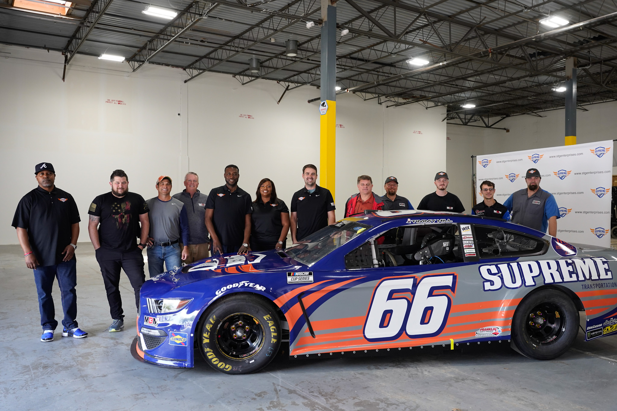 Supreme Transportation Group Team Photo with -branded nascar -